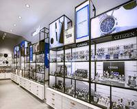 Elegant luxury brand boutique watch display showcase cabinet for store design