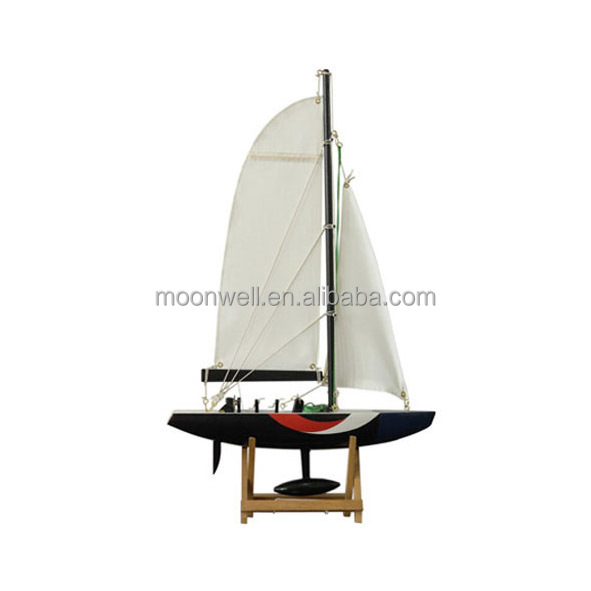 America's Cup disposable Sailing Boat, Wooden Sailboat Model, Souvenir Clipper Model Nautical Gifts Decoration