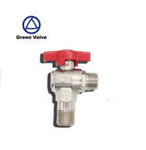 Gutentop high pressure 90 degree male threaded nickel plated cw617n brass ball valve