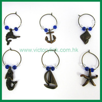 2D Sea World Series Wine Charm Set