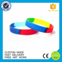 Promotional souvenir gift waterproof colorful custom silicone bracelet wristband