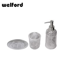 Best price custom glass cheap bathroom accessories sets for hotel