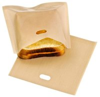 Reusable Toast Bag Non Stick teflon Toaster Snack Grilled Cheese Sandwich Pizza Bread Bags