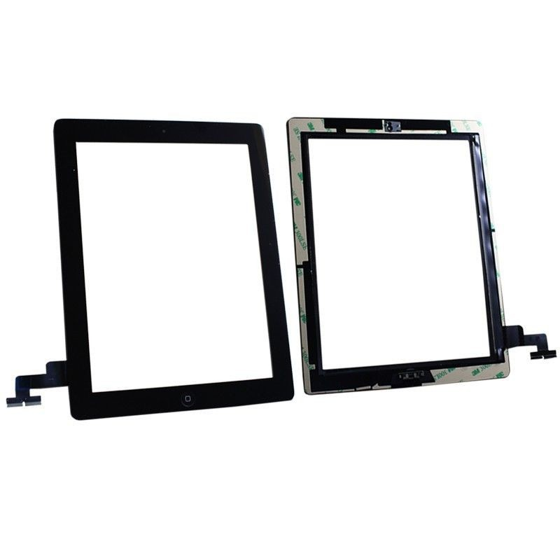 OEM White Assembly Digitizer Screen Replacement Home Button Adhesive for iPad 2