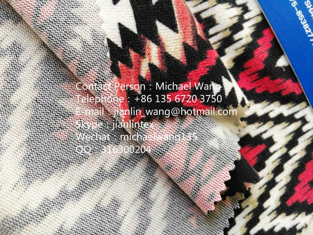 Polyester Acrylic Knitting Printing Fabric / Wool Spinning Pattern Fabric