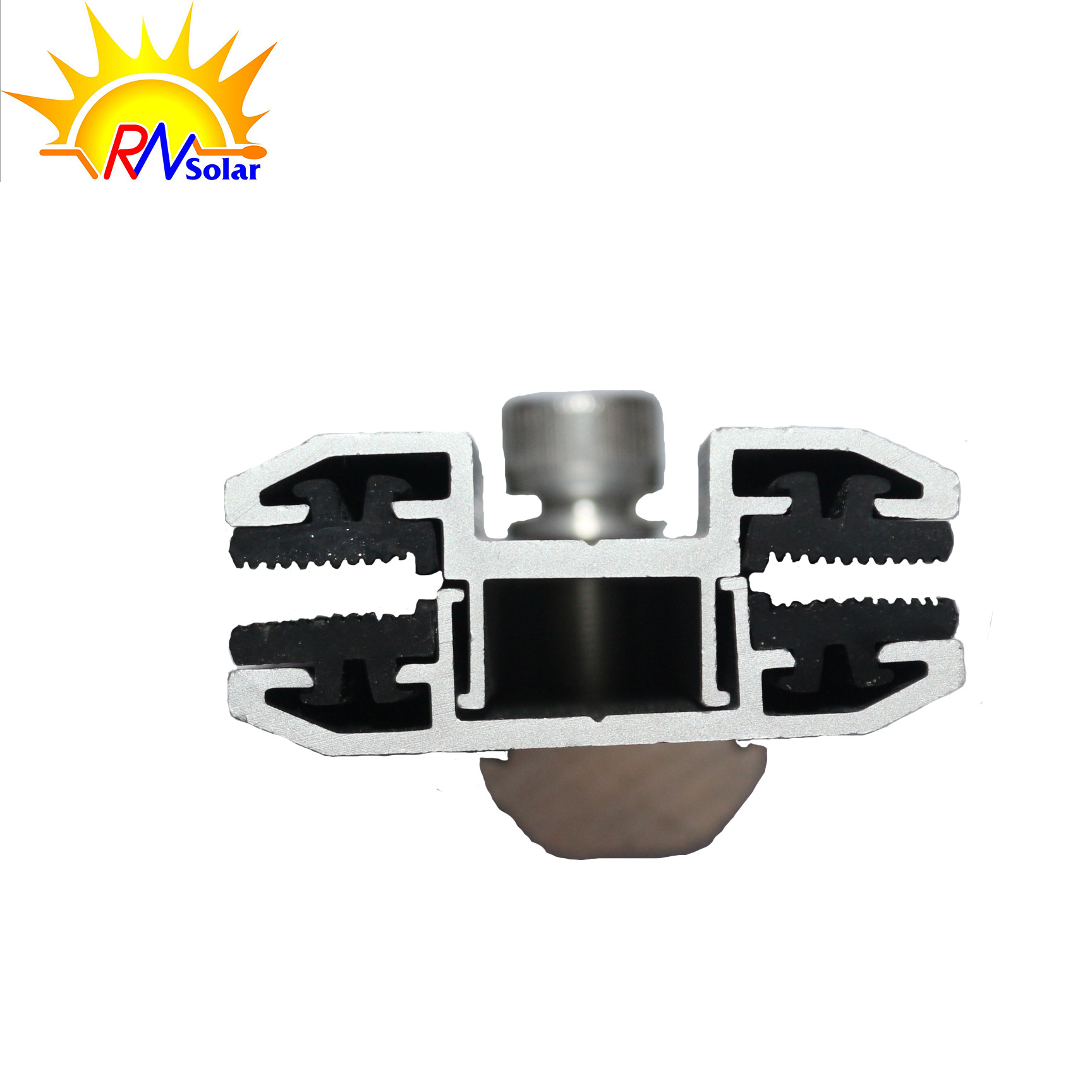 Anodized Aluminium Mid and End Frameless Solar Panel Mounting Clamps
