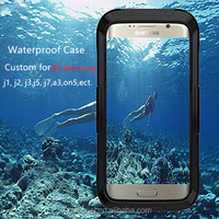 360 Degree Full Cover Waterproof Phone Case for Samsung Galaxy S7 Edge, Custom Waterproof Case for Samsung Galaxy A8 ON5 J1235