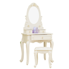 D1702 Eco-friendly MDF modern european makeup vanity home decoration girls modern dressing table with mirror dresser furniture
