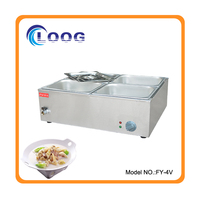 4 Pots,Commercial Stainless Steel Food Warmer/Kitchen Fast Food Equipment/Food Warmer