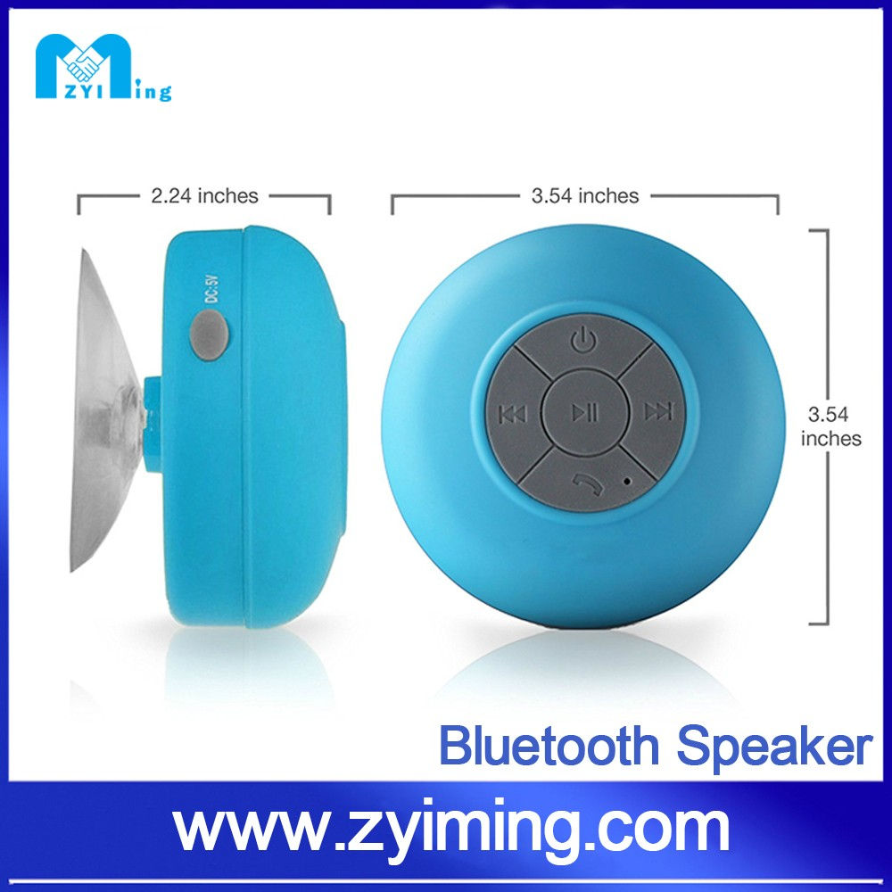 Zyiming 2016 consumer electronics Super loud Sound Shower Mini Speaker Waterproof Bluetooth Speaker