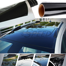 New arrival high glossy black / white sun roof protection vinyl car roof pvc sticker