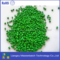 Rubber & Plastic Good Bright Green Color Masterbatch for PE, PP