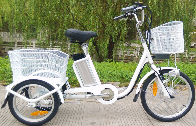electric adult bikes big size with double baskets hot sale