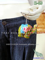 Thai Handmade Elephant souvenir key Chains