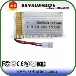 High discharge rate 25C rc lipo battery 902540 700mah 3.7v lipo battery