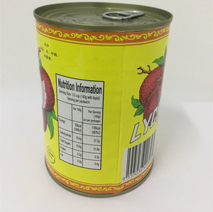 Fresh fruits organic healthy food canned lychee