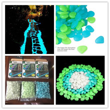 pebbles luminous stone glow ball garden walkway night light stone decorative glow in the dark cobbles
