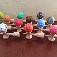 Natural wood custom kid's toy kendama pill for wholesale