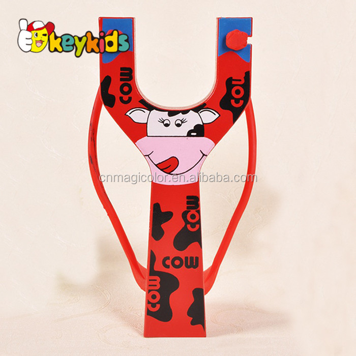 Wholesale cartoon style hunting wooden slingshot toy for kids' muslc exercise W01A060