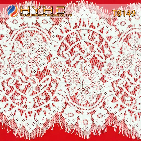 Wholesale Cotton/Nylon Guipure Eyelash Lace For Wedding Dress T8149