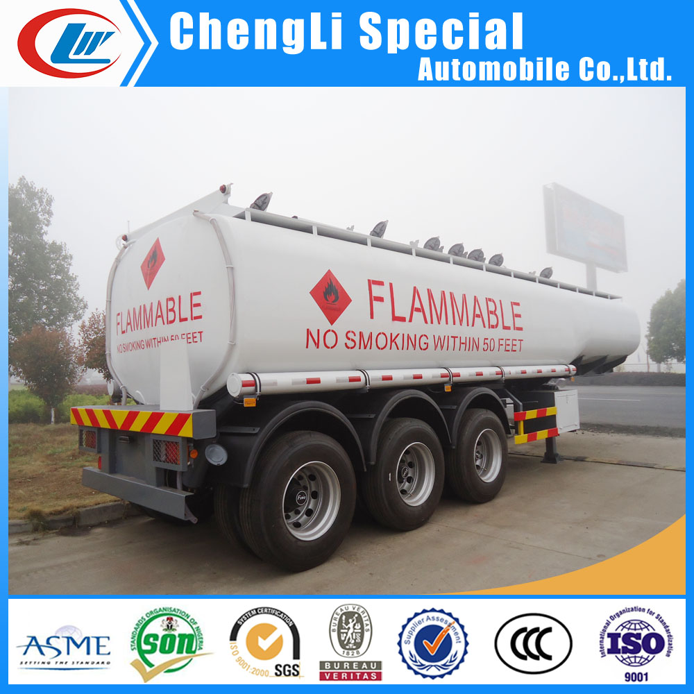 Kenya oil gasoline diesel petrol 35000L~60000Liters tanker truck trailer 3 axles 35000L fuel tanker trailer for sale