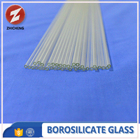 high transparent small diameter glass tube
