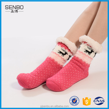 Eco-friendly Long Slipper Socks Custom Made Non Skid Socks Wholesale From Yiwu