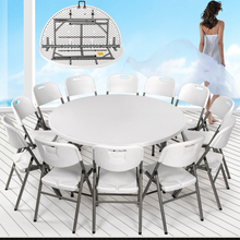 2017 Plastic Banquet Folding Table HDPE white folding Round Table