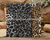 leopard flip leather case for the ipad air