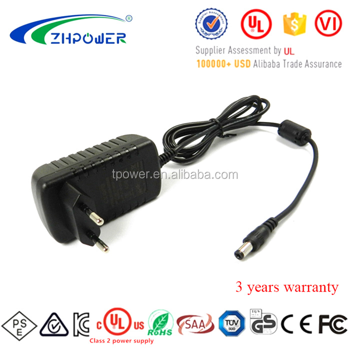 EU plug shenzhen honor electronic 12v 2a led power supply 24w xbox ac adapter