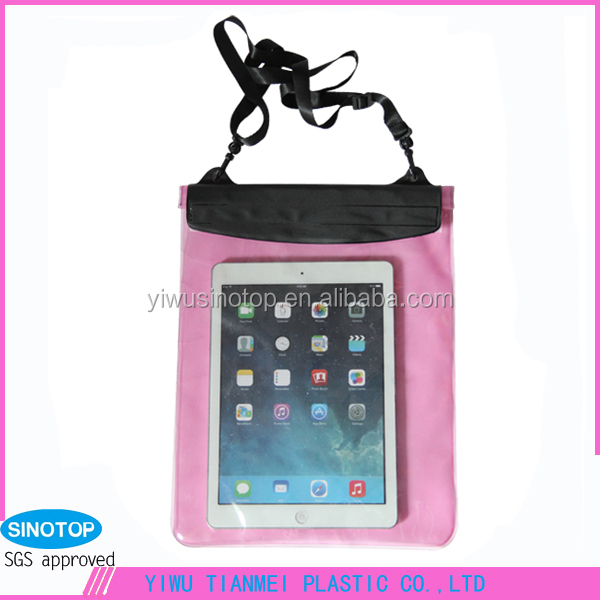 Hot Selling Universal PVC Waterproof Bag for Tablet PC
