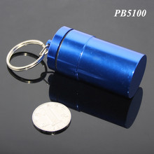 68mm Length Large Capacity Money Coins Bottle Aluminum Pill Box Blue Color Empty Healthy Care Super Big Pill Case