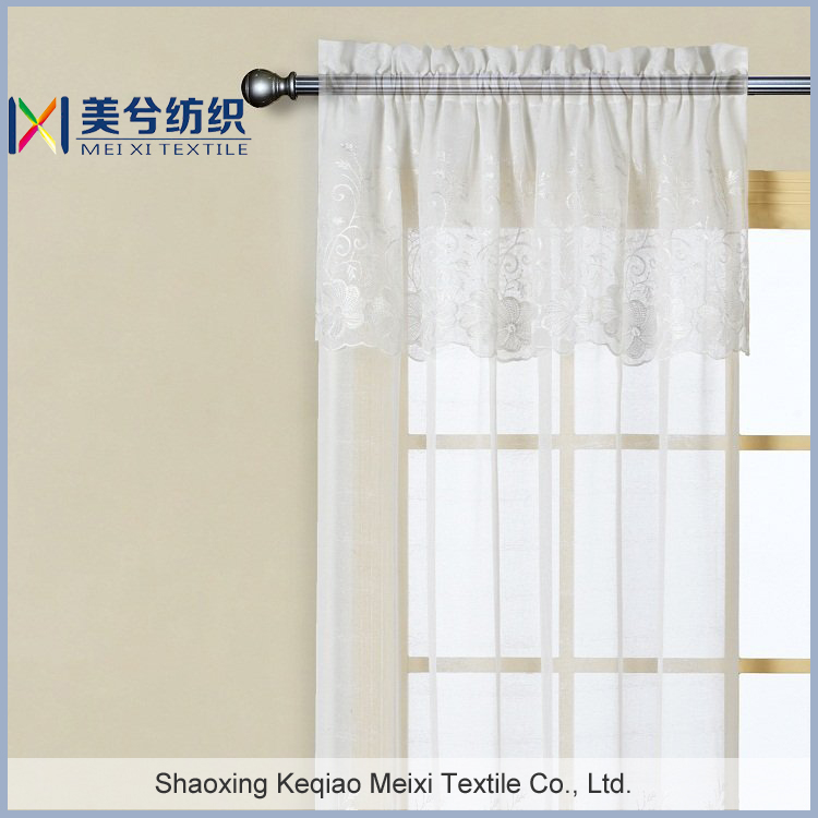 Valance Embroidered Linen Silk Sembroidery China Curtain Embroidery Collections