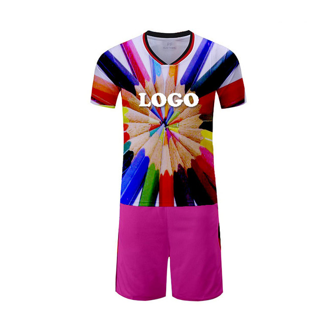 Football soccer shirt factory price top quality kids jersey digital printing jerseys
