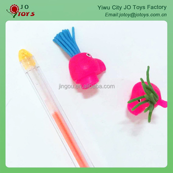 Different colors plastic pencil cap capsule toy
