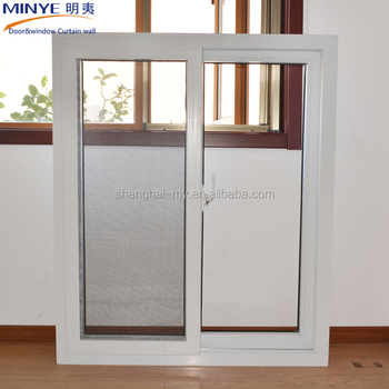 Factory price high quality upvc framed glass sliding window