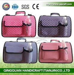 BSCI QQ petbed factory expandable and foldable air travel pet dog carrier