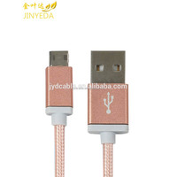 High quality stable condition two sides micro usb data cable nylon braided for Android system data cable
