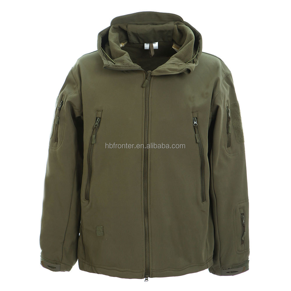High Quality Outdoor Military Tactical tad shark skin soft shell jacket