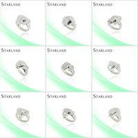 Starland vibrating body piercing Fine and noble Hot Sell Silver Ring Jewelry