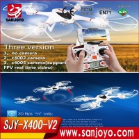 Three version MJX X400-V2 2.4G 4ch RC Drone wifi camera Quadcopter 6 Axis Gyro UAV with simple frame&beautiful vision