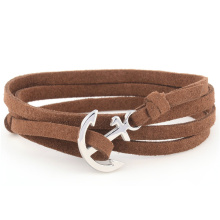Fashion Jewelry, Handmade Sailer Symbol Designs Leather Bracelet