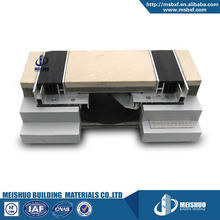 Custom width gap rubber filler metal concrete expansion joint covers flooring
