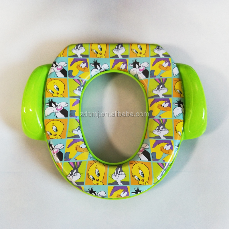 Boy and Girl Baby soft toilet seat with pattern,printed toilet seats