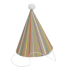 Hobbycraft Striped Kraft Party Hats 6 Pack Paper Birthday Party Accessories