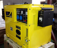 12.5kva silent type water cooled AC single phase diesel generator gen set with low price