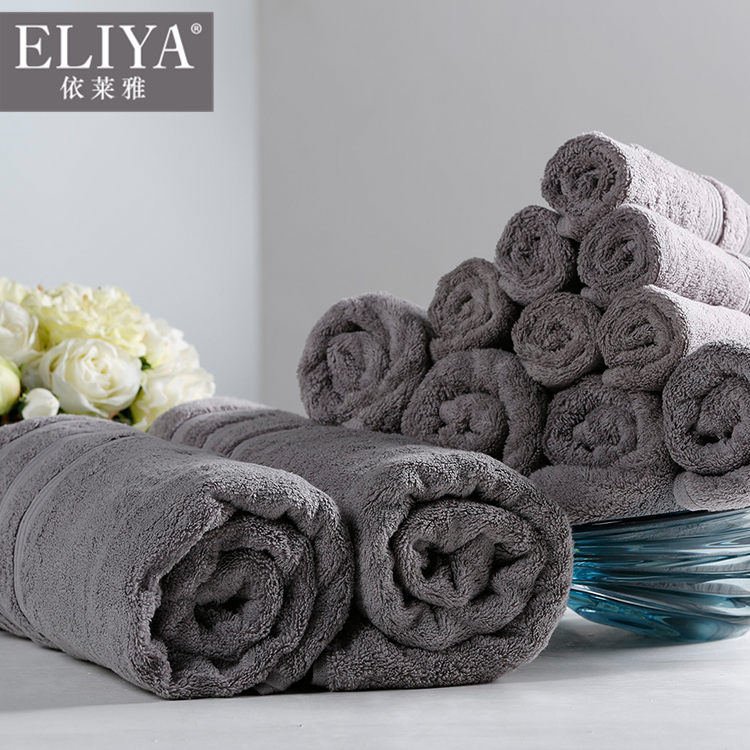 Luxury 5 star hotel border jacquard thick towel eco-friendly 100% cotton,hotel balfour spa towel peach bar sets
