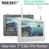 7 inch FPV LCD Monitor Built-in Integrated Lipo Battery 32CH 5.8GHz Wireless Receivers RC Heli