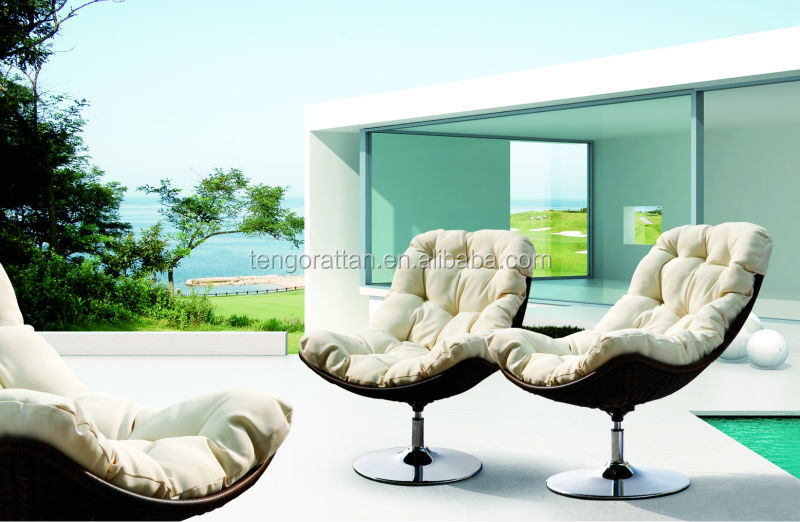 Hot Sell Rattan Chair Outdoor Swivel chair(TG0025-25)