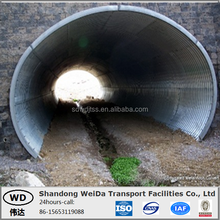 Weida Factory Direct Sale Galvanized corrugated Steel Road Culverts